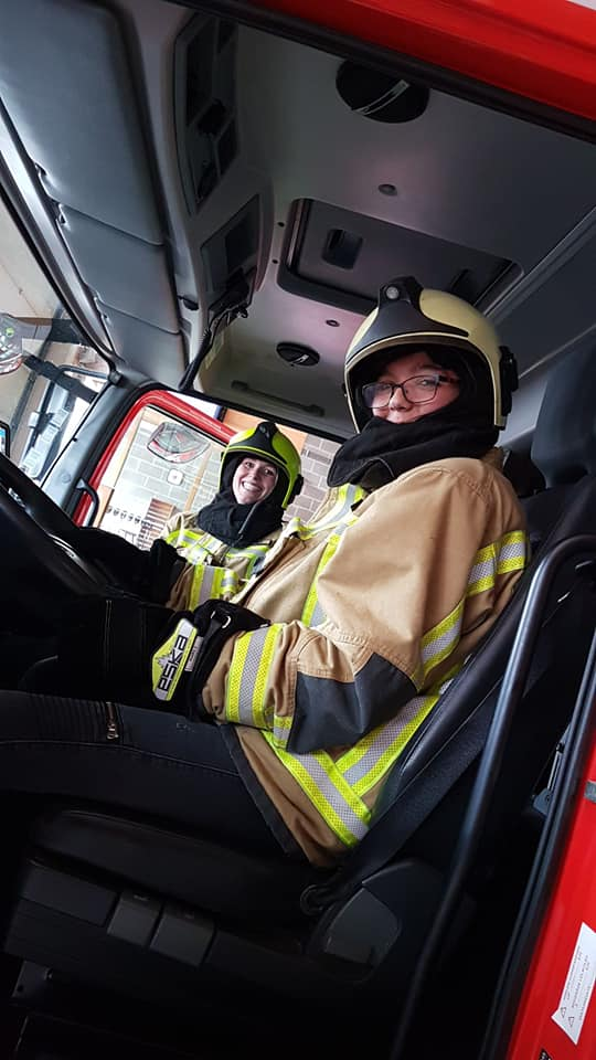Visite de la caserne des pompiers de Limbourg.