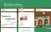 Padlet: dossiers confinement