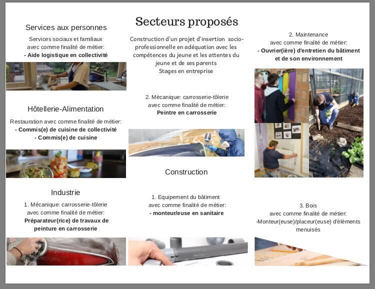 Enseignement de forme 3 : nos secteurs et finalités !