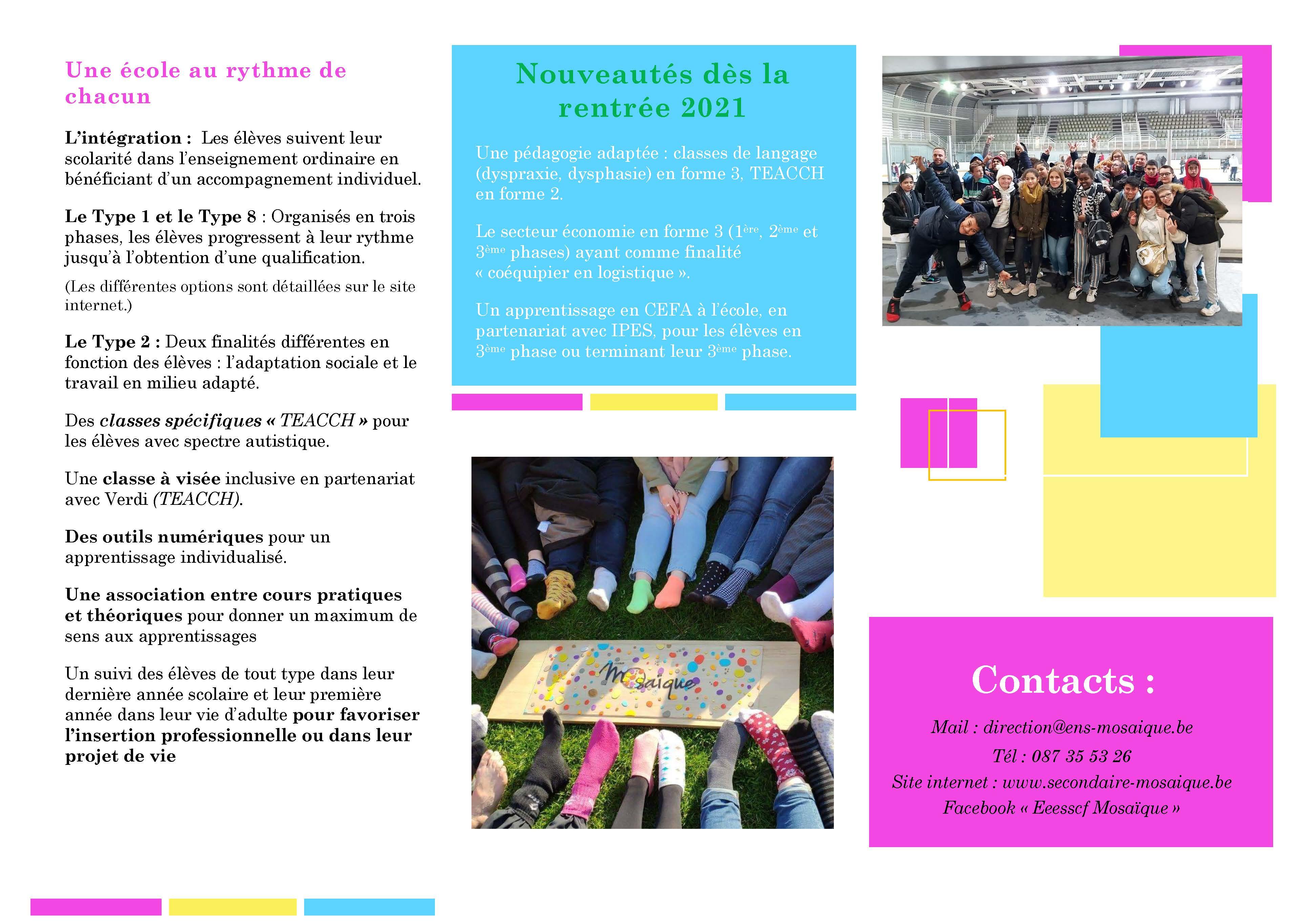 Brochure EESSCF Mosaïque 2021-2022